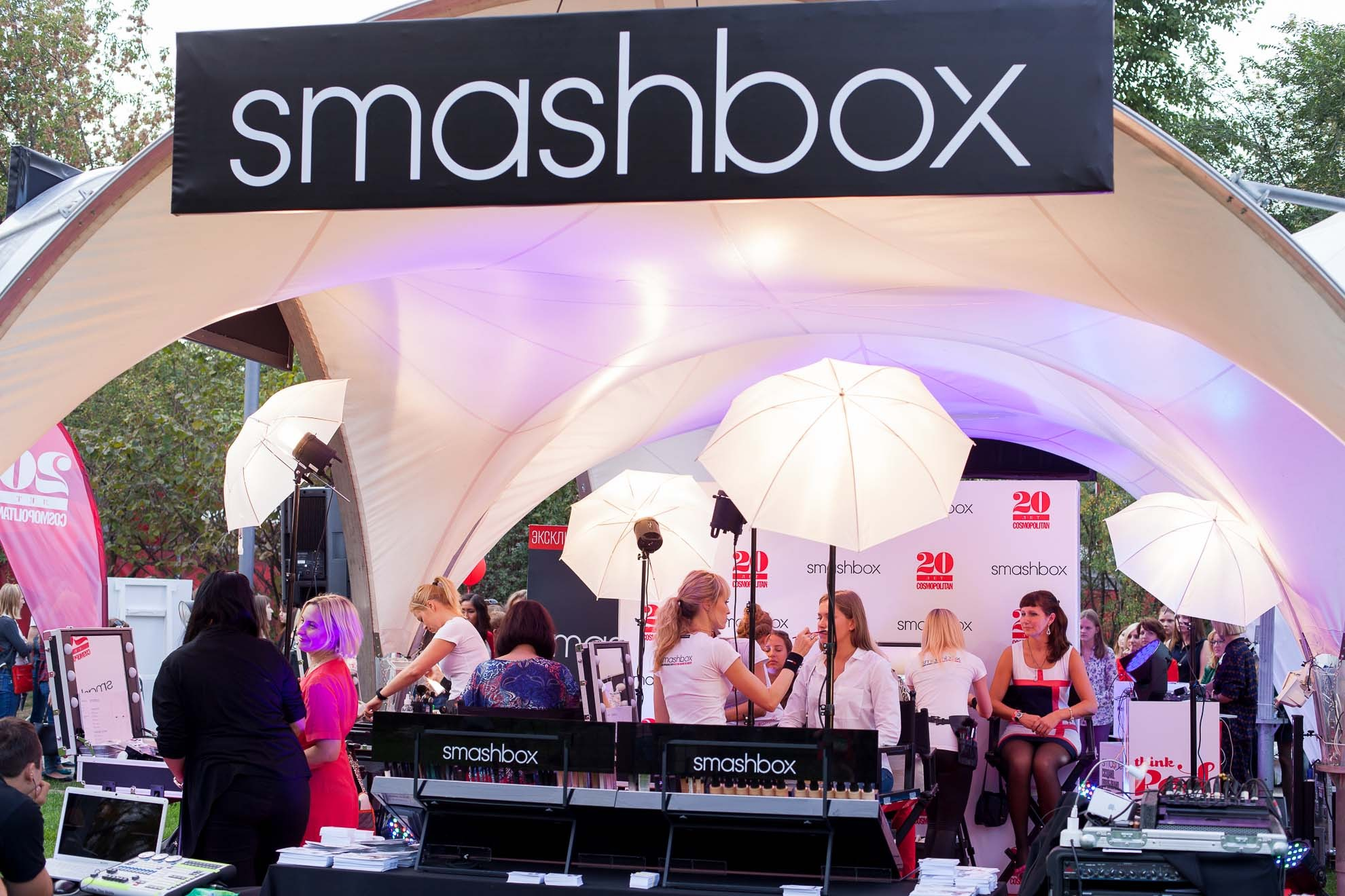 SMASHBOX COSMOPOLITAN 20 лет, парк Музеон, Москва